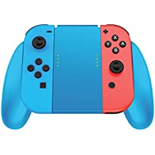 Joycon Comfort Grip for Nintendo Switch by TalkWorks | Controller Game Accessories Handheld Joystick Remote Control Holder Joy Con Kit, Blue