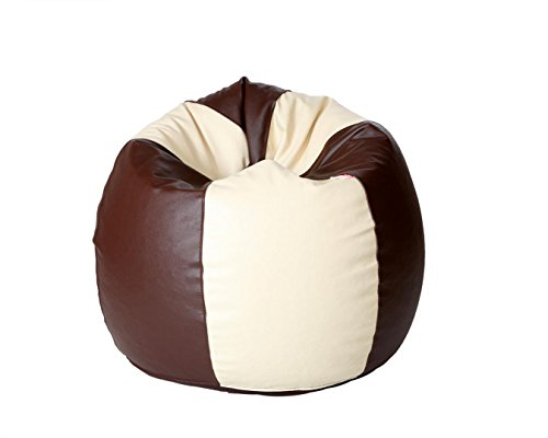 ComfyBean XL Bean Bag Without Fillers Cover  Brown and Cream