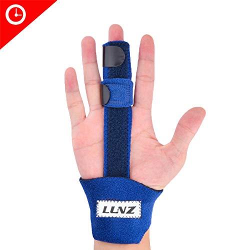 Trigger Finger Splint, Luniquz Finger Brace Splint with Malleable AL Support, Extendable for All Finger Joints to Stabilize Broken Fingers,Mallet Finger & Pain Relief