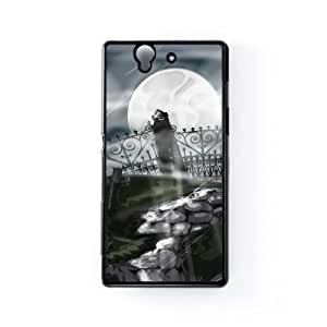 Graveyard Black Hard Plastic Case Snap-On Protective Back Cover for Sony? Xperia Z by Nick Greenaway + FREE Crystal Clear Screen Protector by mcsharks