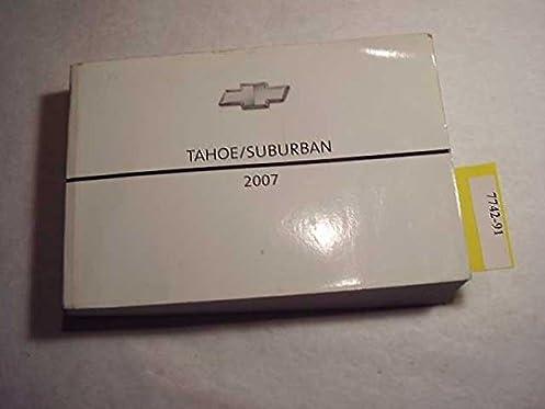 2007 chevrolet tahoe suburban owners manual chevrolet amazon com rh amazon com 2007 chevy suburban z71 owners manual Suburban Transmission Manual