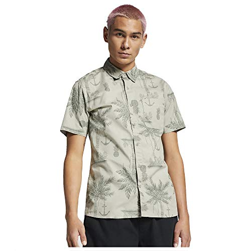 Hurley Men's Asylum Stretch Top Short Sleeve, Spruce Fog - - Pack Asylum