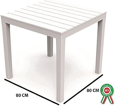 Tavolo Legno Bianco Esterno.Sf Savino Filippo Tavolo Tavolino Quadrato 80x80 Bali In Resina