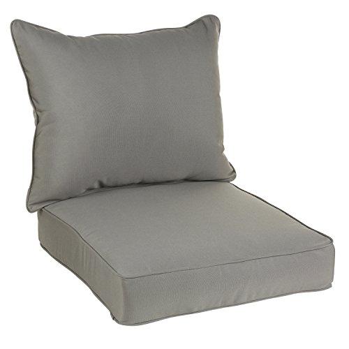 Mozaic AZPC4954 Sunbrella Indoor/Outdoor Deep Seating Corded Pillow and Cushion Set, 23