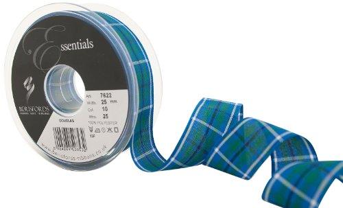 Berisfords 7622 25 m x 25 mm Traditional Tartan Ribbon, Douglas by (Douglas Tartan Ribbon)
