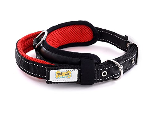 Moonpet Adjusted Nylon Dog Collar With Handle & Solid Buckle - Durable Meshed Material - Heavy Duty/Stylish Design - Name Plate&ID Tag D-Ring - For Walking/Control/Training - - D-ring Collar Training