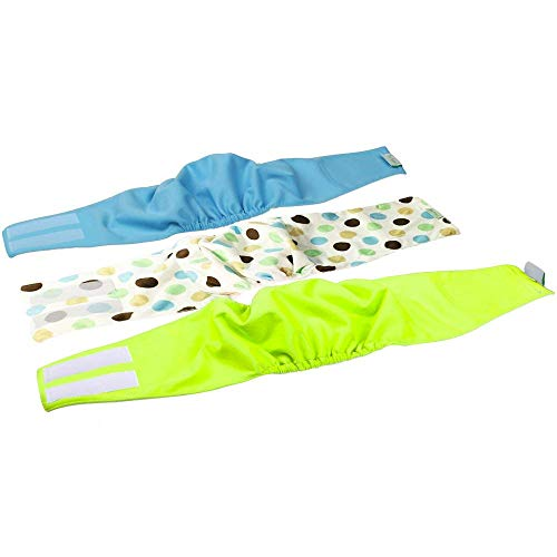IN HAND Washable Male Dog Diapers(Pack of 3), Premium Reusable Belly Bands for Male Dogs, Durable Male Dog Belly Wrap, Comfy Doggie ()