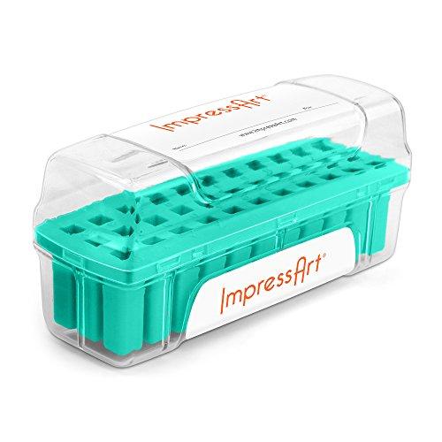 ImpressArt Letter Stamp Storage Case, Teal, 6mm by ImpressArt
