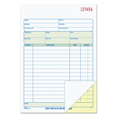 Tops Purchase Order (TOPS Sales Order Book, 2-Part, Carbonless, White/Canary, 5-9/16 x 7-15/16 Inches, 50 Sets per Book (46500))