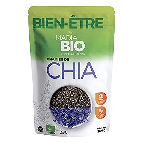 Madia Bio - Semillas De Chia Bio 200G - Lote De 3 - Precio Por ...