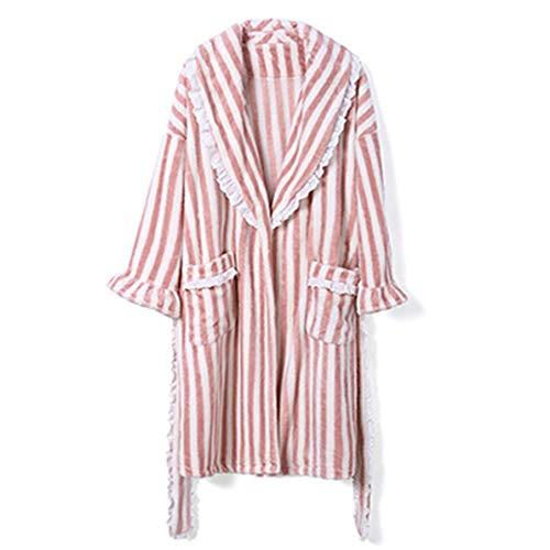 Espesar Shrimp Gwdj De El Tamaño Mantener Camisón color Color Invierno Liruipengsy Pijama Sencillo Y Sexy Pijamas Mujer Albornoz Xl Cómodo Cálido Color Empalme Suelto pHwdwCtnxq