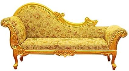 tayyaba enterprises Teak Wood Sofa Couch (Gold): Amazon.in ...