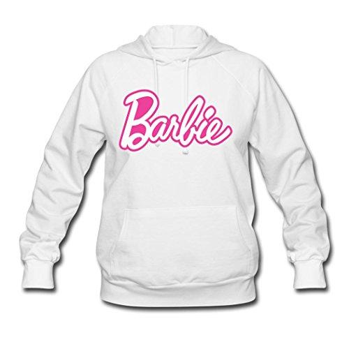 BIN Women's Mattle's Barbie Logo Hoodie Sweatshirt Hooded Coat Pullover Top Large