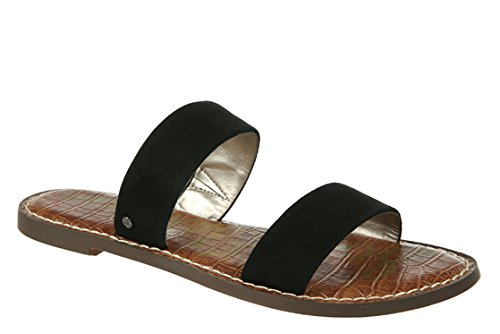 Gala Footwear - Sam Edelman Women's Gala Slide Sandal, Black Suede, 7.5 M US