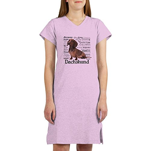 - CafePress Dachshund Traits Women's Nightshirt, Soft Long Pajama Shirt, Cotton PJs/Pyjamas Pink