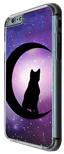 476 - Cute Cat Standing On Moon Design iphone 6 6S 4.7'' Coque Fashion Trend Case Coque Protection Cover plastique et métal