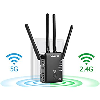 Ac1200 wifi range extender wavlink dual band - Wireless extender with ethernet ports ...