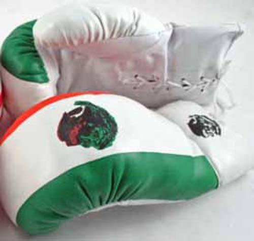 1ペアの大人用16オンスボクシンググローブメキシコ国旗ボクサー