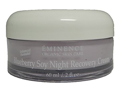 Eminence Organic Night Recovery Cream, 2 Ounce - Blueberry Soy Night Recovery Cream