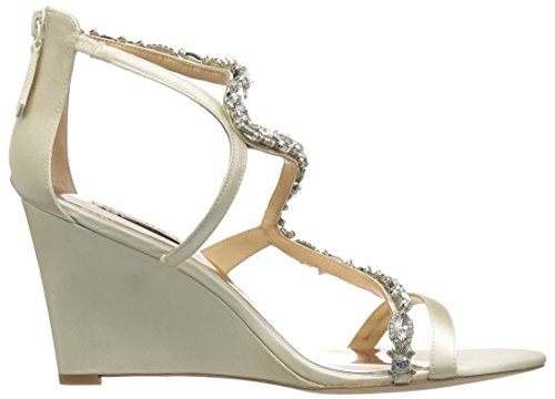 brand new unisex cheap price Badgley Mischka Women's Simona Wedge Sandal Ivory buy cheap professional pay with paypal online VbjjC0