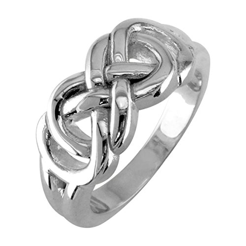 Infinity Ring Engravable in Sterling Silver size 6 by Sziro Infinity Rings