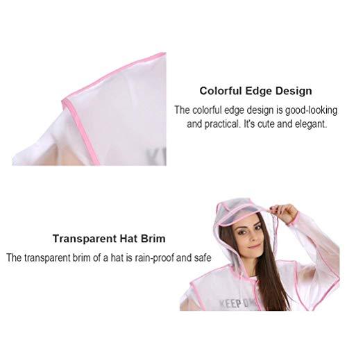 Ropa Alta Haidean Impermeable Pink Del Larga La Modernas Con Emergencia De Unisex Y Casual Capucha Viaje Portátil Fácil SSPw1qAng