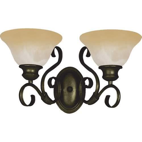 Maxim Lighting Pacific Kentucky Bronze 2-Light Vanity Light 8020WSKB