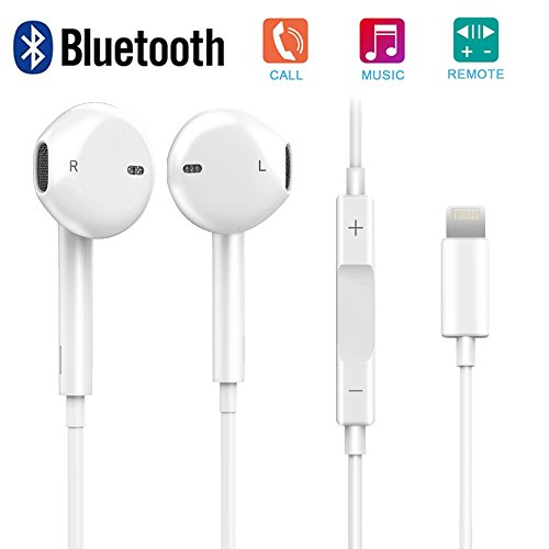 AXELECT Bluetooth Headset Lightning Earbuds Stereo Headphones Noise Cancelling Microphone Remote Control...