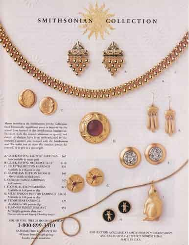 1993 Smithsonian Collection: Jewelry, Smithsonian Print Ad