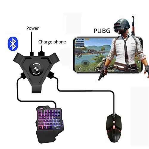 RONSHIN Gaming Keyboard Mouse Converter,PUBG Mobile Gamepad Controller for Android Phone Bluetooth Adapter Computers Accessories,Components Converter