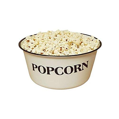 Popcorn Bowl, GSL82, Vintage, White, Retro Styled REPRODUCTION of old-time bowl with old-time Blemishes and Distressed Touches throughout -