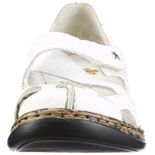 Grey Donna 46367 Bianco Ballerine Rieker Weiss x4wPqq