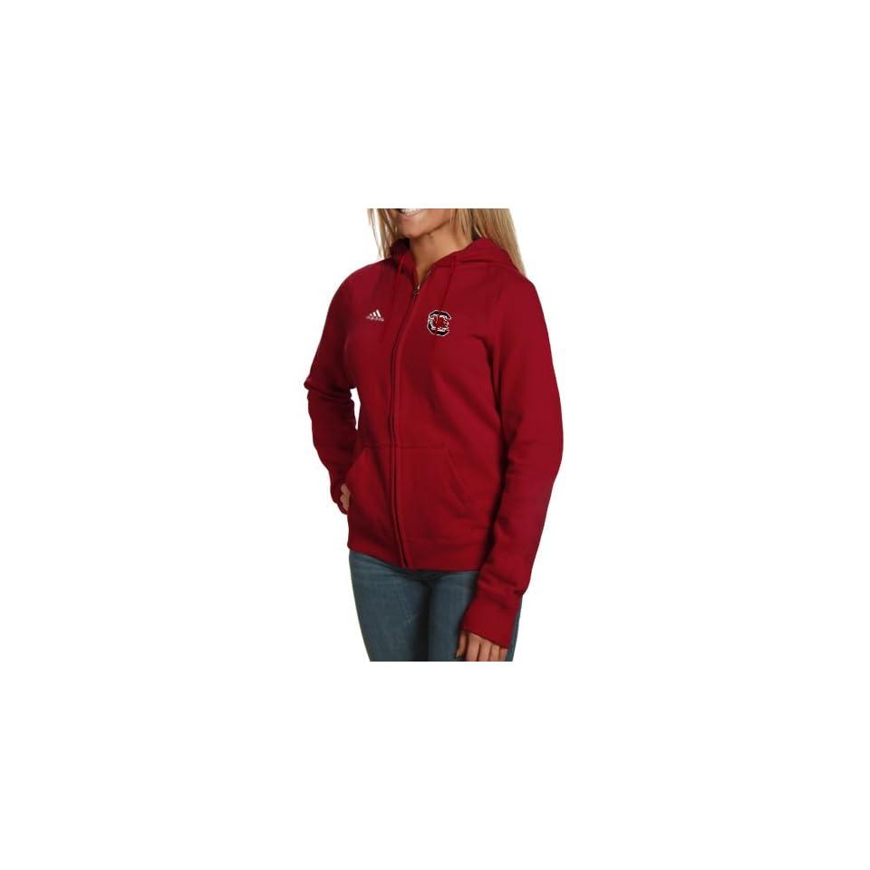 NCAA adidas South Carolina Gamecocks Ladies Garnet Primary Logo Full Zip Hoodie Sweatshirt