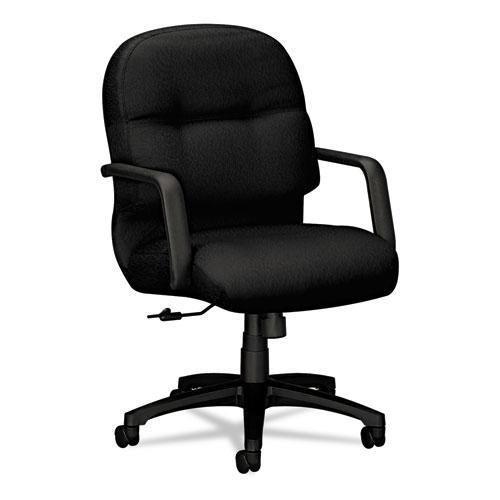 HON 2092NT10T 2090 Pillow-Soft Series Managerial Mid-Back Swivel/Tilt Chair, Black/Black