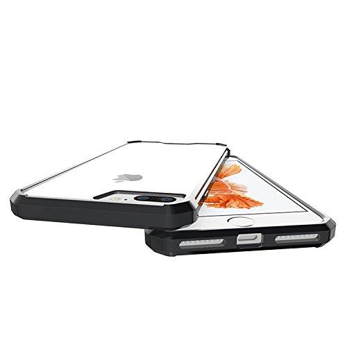 Meimeiwu Hohe Qualität TPU + Acrylic Bumper Crystal Clear Schutzhülle Protective für iPhone 7 Plus - Schwarz