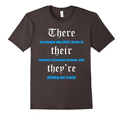 Funny English Teacher Grammar T-Shirt for Men and Women