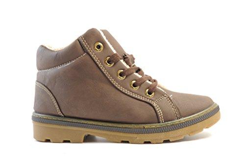 weberfashion - Zapatos de cordones para mujer Negro negro 38 Marrón - Brauntöne