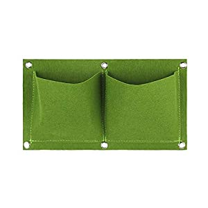 2 Pocket parete non tessuto in feltro Piantare verticale sacchetto orto Growing sacchetti sacchetto impianto PotGreen 2 spesavip