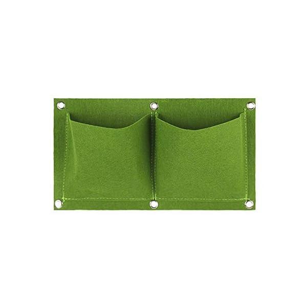 2 Pocket parete non tessuto in feltro Piantare verticale sacchetto orto Growing sacchetti sacchetto impianto PotGreen 1 spesavip