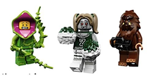 Plant Guy, Zombie Cheerleader, Bigfoot : Lego Collectible Minifigures Series 14 Monsters, Zombies, Halloween Custom Bundle 71010