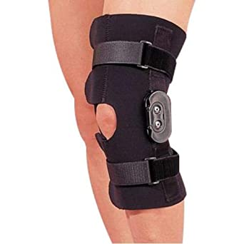 930c0f9a49 Rolyan Hinged Knee Wrap, Multiple Sizes, Knee Brace with Flexion and  Extension Prohibitive Hinge