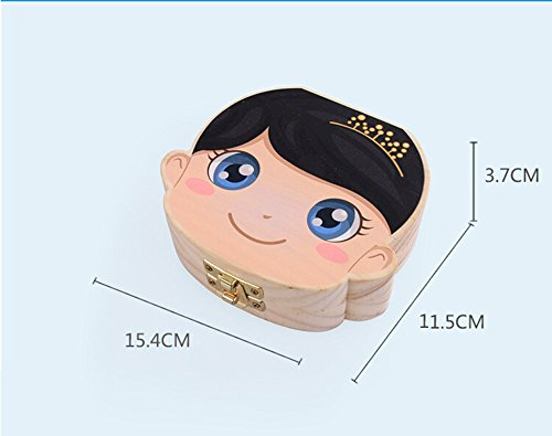 Anbaby Cute Personality Baby Teeth Box Save Wooden Boxes Deciduous Souvenir Box Colorful Girl