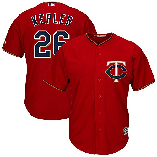 Max Kepler Minnesota Twins MLB Majestic Youth Red Alternate Cool Base Replica Jersey (Size Small 8)