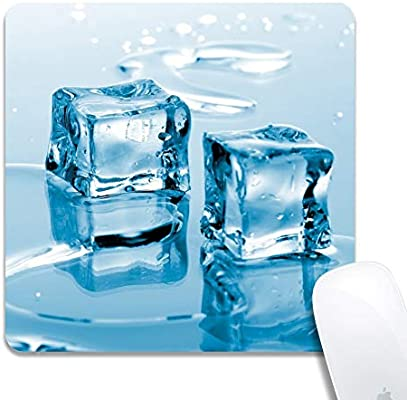 Rinda Customized Square 200x200x3mm Mouse Pad Frozen Ice Cube Non Slip Rubber Gaming Mousepad Durable Comfortable Mat With Stylish Pattern