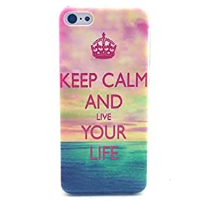 iPhone 5C Case - LUOLNH Fashion Style Colorful Painted Keep CALM and Live Your Life TPU Silicone Gel Back Cover Protector Skin For iPhone 5C
