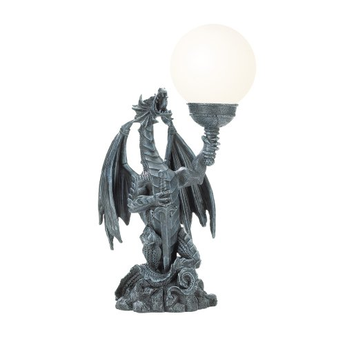 Gothic Theme Dragon With Lighted Orb