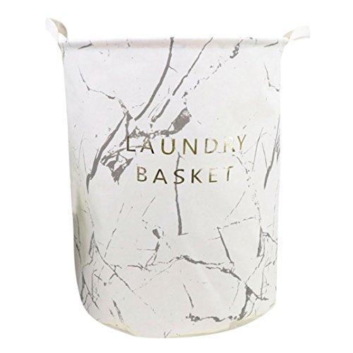 Laundry Basket Waterproof Canvas Folding Clothes Storage Basket Foldable Laundry Organizer Hamper Bucket Box (F)