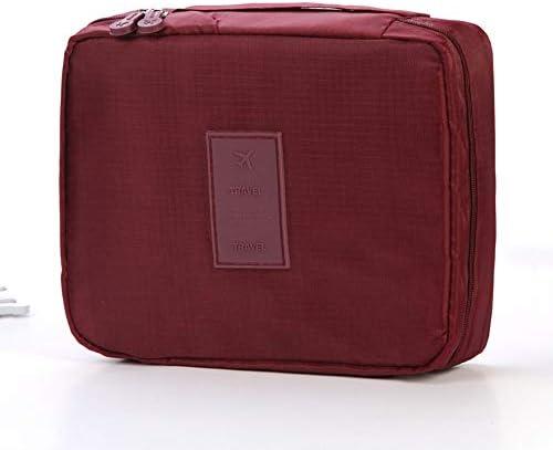 トラべラブ圧縮バッグ 大容量の多機能旅行収納ポーチ旅行第二世代ウォッシュバッグ化粧品収納バッグ トラベルポーチ 出張 旅行 便利グッズ (Color : Wine red, Size : Free size)
