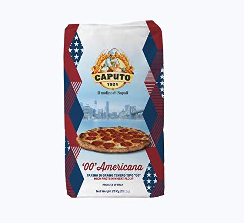 Antimo Caputo Americana Pizza Flour 55 Lb Bulk - 00 Double Zero Grain Type Italian - Ideal for All Oven Types (Best New York Pizza Dough)