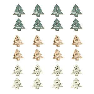 Amazon.com: GoalBY - Adornos navideños de madera para árbol ...
